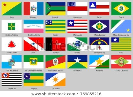 флаг Бразилия иллюстрация сложенный землю Америки Сток-фото © flogel