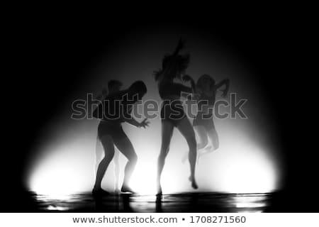 Akrobatikus táncosok szenzáció visel egyiptomi jelmez Stock fotó © stepstock