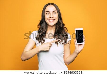 Mulher de negócios isolado branco negócio Foto stock © stepstock