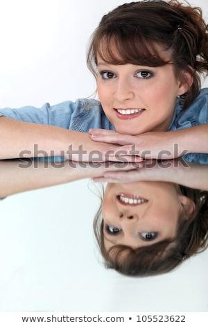 Morena significado superfície cara fundo Foto stock © photography33