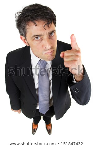 Belligerent businessman pointing his finger Stock photo © smithore