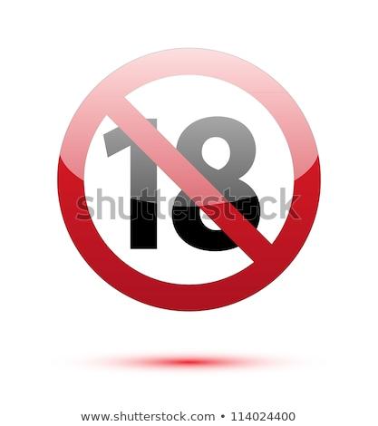 dix-huit · signe · internet · droit · informations · horreur - photo stock © alexmillos
