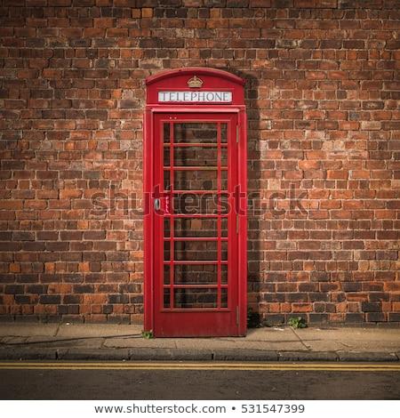 レトロな 電話 ブース 公共 透明な ストックフォト © Anterovium