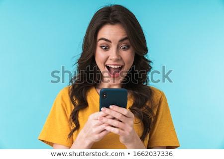 заманчивый брюнетка портрет молодые женщину белья Сток-фото © lithian