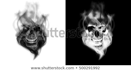 Сток-фото: курение · череп · изображение · формат · сигарету · страхом