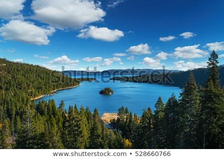 göl · güzel · manzara · kış · zaman · kıyı - stok fotoğraf © pictureguy