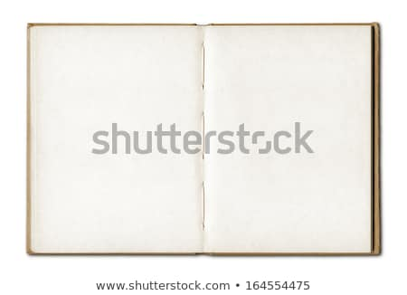 Vintage otwarte notebooka odizolowany biały Zdjęcia stock © daboost