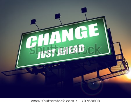 Solution Just Ahead on Green Billboard. Stock photo © tashatuvango