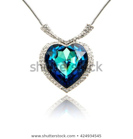 Heart gemstone necklace Stock photo © dengess