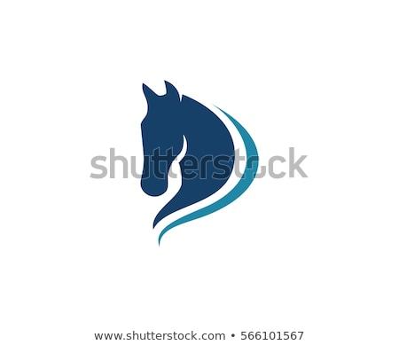 Rojo caballo cabeza icono equipo identidad Foto stock © HunterX