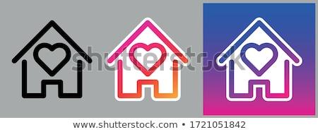 home icon on triangle background stock photo © tashatuvango