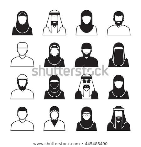 Arabisch iconen vector ingesteld gestileerde Stockfoto © vectorpro