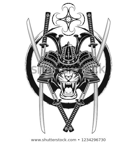 Японский шлема древних битва два черный Сток-фото © sharpner