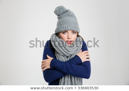 Woman freezing Stock photo © ichiosea