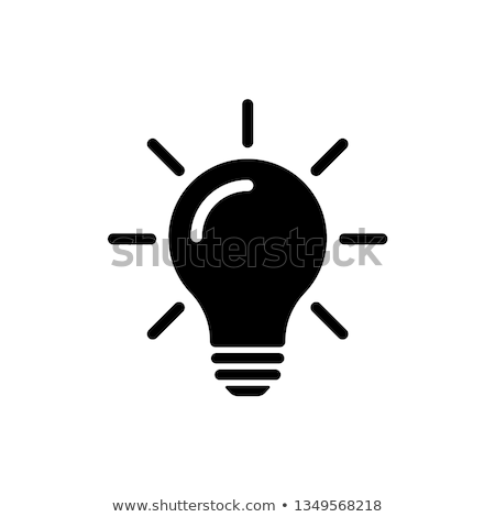 ampoule · lampe · icônes · blanche · internet · web - photo stock © yuriy