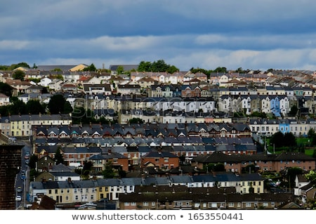 View of terraced houses in Derry Northern Ireland Stock photo © backyardproductions