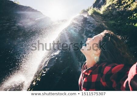 Spanyol nő vízesés bikini szexi divat Stock fotó © hlehnerer