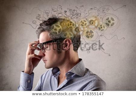 Сток-фото: бизнесмен · вращение · изолированный