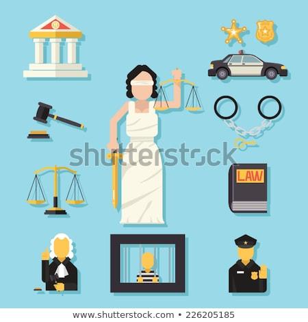 Posąg kajdanki biały kobieta sprawiedliwości moc Zdjęcia stock © andromeda