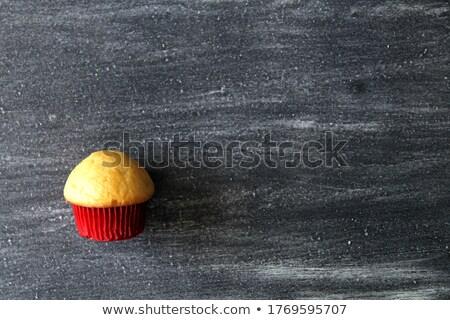 vaj · torta · zselé · narancs · buli · születésnap - stock fotó © punsayaporn