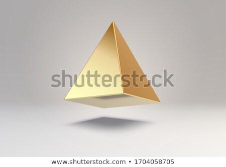 golden pyramid stock photo © ankarb