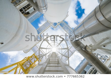 steel industrial design. ladder, process equipment Stock photo © ultrapro