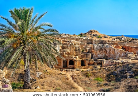 Ruins of ancient town in Paphos on Cyprus Stock photo © mahout