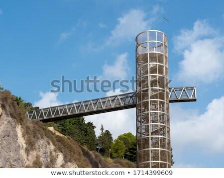 パノラマ リフト エレベーター スペイン 山 都市 ストックフォト © lunamarina
