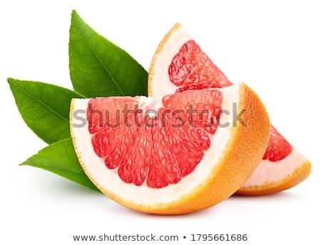 изолированный розовый грейпфрут белый Сток-фото © njnightsky