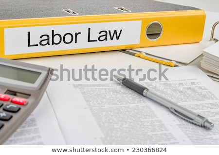Folder with the label Labor Law Stock photo © Zerbor