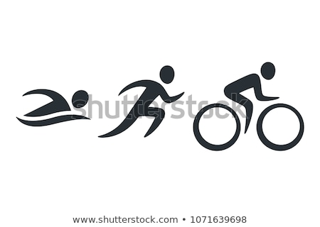 triathlon · icône · sport · illustration · design - photo stock © sahua