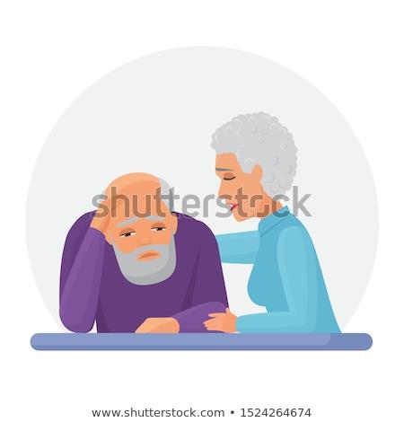 cartoon stressed old man Stock photo © lineartestpilot