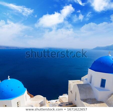 Santorini sziget tenger tájkép gyönyörű Görögország Stock fotó © neirfy