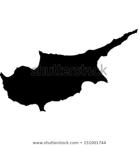 Kaart Cyprus groene Blauw vector geïsoleerd Stockfoto © rbiedermann
