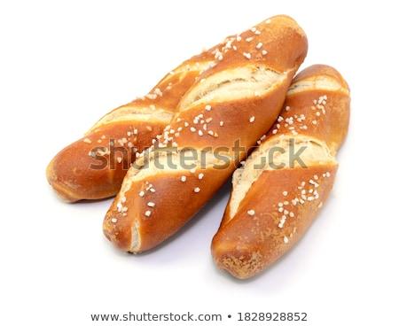 Tuzlu kraker gıda ekmek yağ beyaz Stok fotoğraf © nito