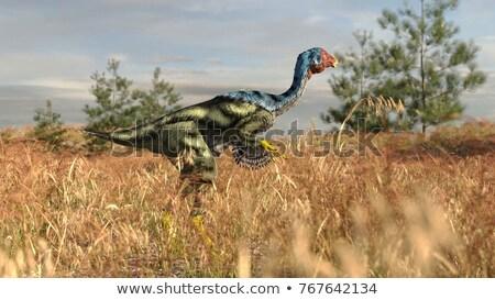 Dinozor 3d render beyaz kuş ağız yürüyüş Stok fotoğraf © mariephoto