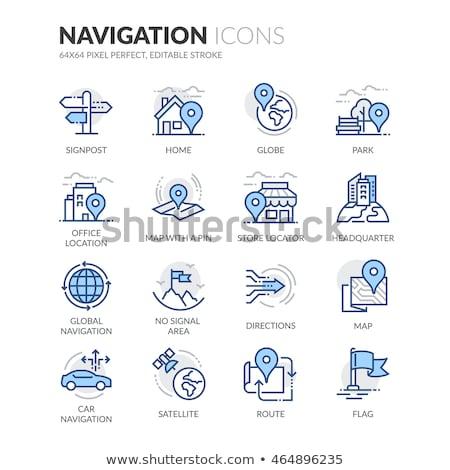 vetor · viajar · linha · ícones · isolado - foto stock © anatolym