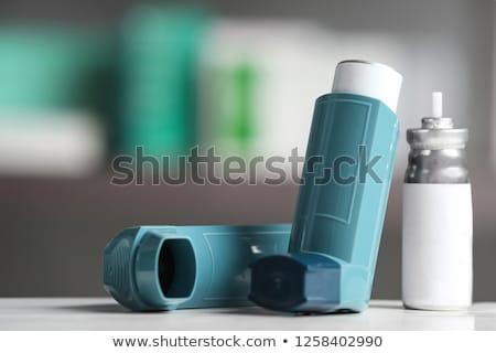 Asma chiuso isolato bianco medicina droga Foto d'archivio © ajt