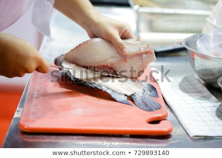 Fresh filleted fish in a Japanese market Stock photo © ymgerman