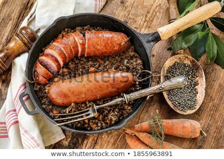 morteau sausages with lentils stock photo © philipimage