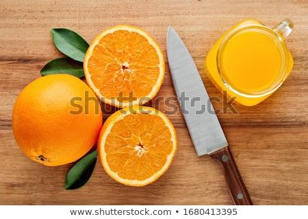 Sappig oranje keuken natuur vruchten glas Stockfoto © fantazista