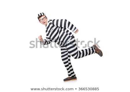 Gevangenis bewoner grappig man slot vrijheid Stockfoto © Elnur