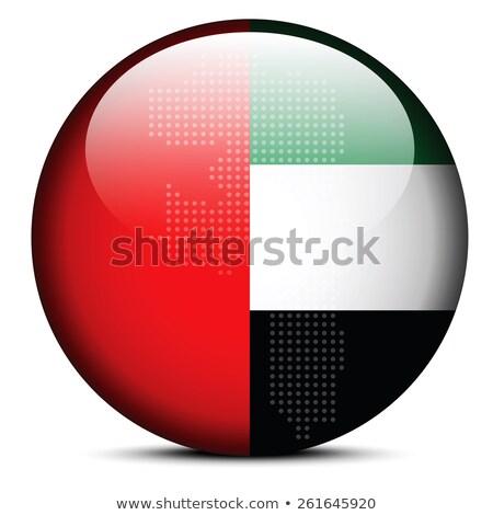 Map on flag button of United Arab Emirates, Fujairah Emirate Stock photo © Istanbul2009