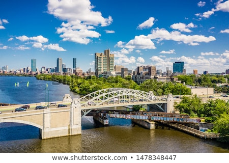 Boston from Harvard Bridge in Charles River Stock photo © lunamarina