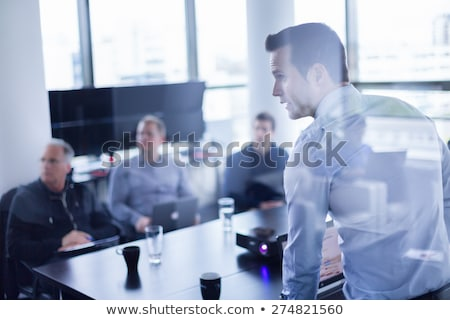 business man making presentation stock photo © hsfelix