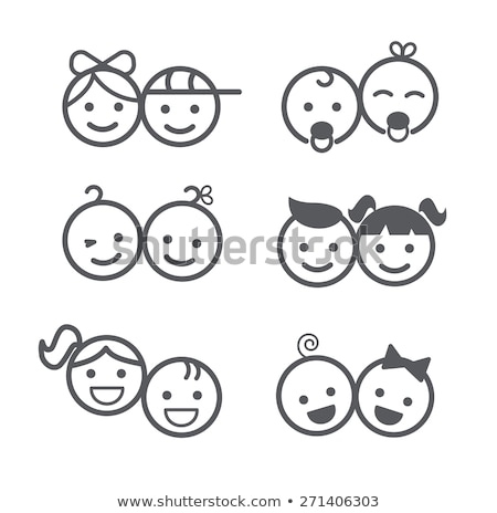 Stock photo: Baby boy and girl icons