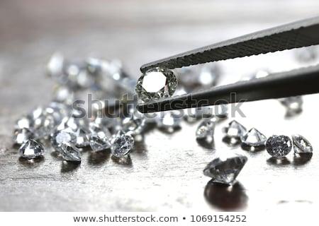 Diamant sieraden goud keten hart geïsoleerd Stockfoto © AptTone