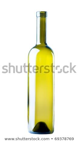 ワインボトル 空っぽ 孤立した 白 ガラス ストックフォト © vtls