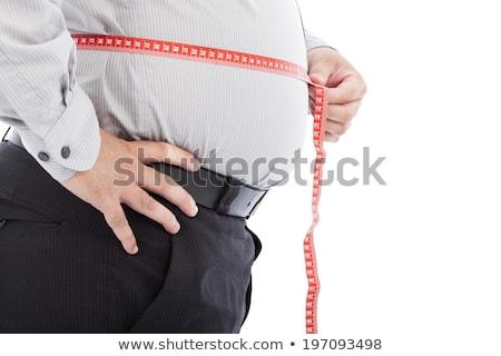 człowiek · skali · stałego · ciało · tle · biały - zdjęcia stock © Mikko