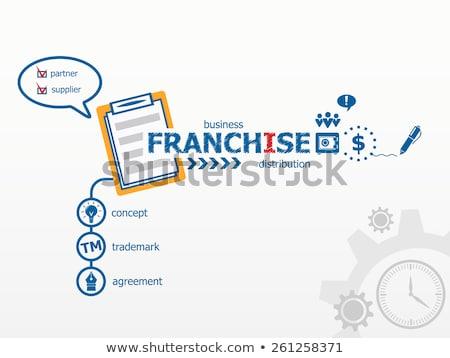 Franchise Blue Marker Stock photo © ivelin